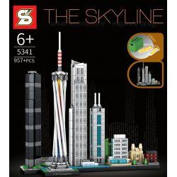 SHENG YUAN SY 5341 Xếp hình kiểu Lego ARCHITECTURE The Skyline Skyline Guangzhou Quảng Châu 957 khối