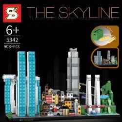 SHENG YUAN SY 5342 Xếp hình kiểu Lego ARCHITECTURE The Skyline Skyline Chongqing Trùng Khánh 908 khối
