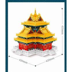SEMBO 201095 Xếp hình kiểu Lego ARCHITECTURE Palace Building Court Building Corner Building Phiên Bản Của Người Sưu Tập Tháp Góc 8245 khối