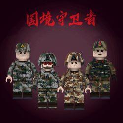 WISE JI001 JI002 PLA001 PLA002 PLA003 PLA004 Xếp hình kiểu Lego COLLECTABLE MINIFIGURES House 6 National Guardian Người Bảo Vệ Biên Giới gồm 4 hộp nhỏ