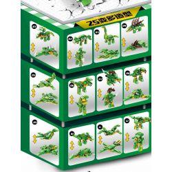 PanlosBrick 633018 Panlos Brick 633018 Xếp hình kiểu Lego DINO Dinosaur Era 12in1 25 Age Of Dinosaurs 12IN1 25 Thay đổi 577 khối