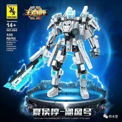 RENZAIMA 694 Xếp hình kiểu Lego TRANSFORMERS King Mecha King's Machine Xia Houzhen - Hurricane Xia Houzhen - Bão 535 khối