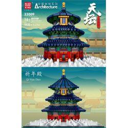 MOULDKING MOULD KING 22009 Xếp hình kiểu Lego ARCHITECTURE Colonna Beijing Temple Of Temple Sảnh Cầu Nguyện Của Chùa Thiên đường Bắc Kinh 5532 khối