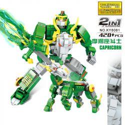 Kazi KY8081 8081 Xếp hình kiểu Lego TRANSFORMERS Constellation Fighter Capricorn Constellation Fighter Capricorn Fighter Chiến Binh Ma Kết 420 khối