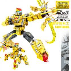 Kazi KY8080 8080 Xếp hình kiểu Lego TRANSFORMERS Constellation Fighter Sagittarius Constellation Fighter Shot Đấu Sĩ Nhân Mã 438 khối