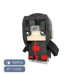 HSANHE 11002-8 SH 11002-8 Xếp hình kiểu Lego Magic Brick Uchiha Itachi Naruto Fangtai Yushuo Cậu Bé đầu Vuông Uchiha Itachi 155 khối