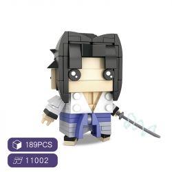 HSANHE 11002-2 SH 11002-2 Xếp hình kiểu Lego Magic Brick Naruto Fang Zhaoyi Zhike Sasuke Cậu Bé đầu Vuông Uchiha Sasuke 189 khối