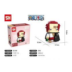 HSANHE 11001-16 SH 11001-16 Xếp hình kiểu Lego One Piece Akakami No Shankusu One Piece Fangtang Red Hair With Fragrant Shanks Tóc đỏ 167 khối