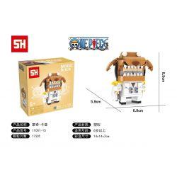 HSANHE 11001-15 SH 11001-15 Xếp hình kiểu Lego One Piece Monkey · D · Garp One Piece Fangtagi Munqi D · Cap Cậu Bé đầu Vuông Khỉ · D · Kapu 172 khối