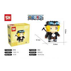 HSANHE 11001-14 SH 11001-14 Xếp hình kiểu Lego One Piece Sabo One Piece Fangtai Saab Cậu Bé đầu Vuông Saab 157 khối