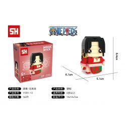 HSANHE 11001-13 SH 11001-13 Xếp hình kiểu Lego One Piece Boa Hancock One Piece Fangtai Ya Hancuk Fangtai Ya Hancuk. 163 khối
