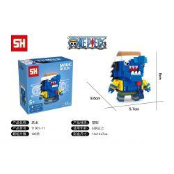 HSANHE 11001-11 SH 11001-11 Xếp hình kiểu Lego One Piece Arlong One Piece Fang Hebao Dragon, Fishman Aron Rồng ác Fangtou, Murloc Aaron 180 khối