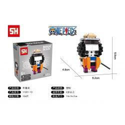 HSANHE 11001-10 SH 11001-10 Xếp hình kiểu Lego One Piece Brook One Piece Bruker Cậu Bé đầu Vuông Brooke 156 khối