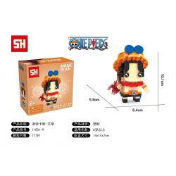 HSANHE 11001-9 SH 11001-9 Xếp hình kiểu Lego One Piece Portgas·D·Ace One Piece Fangtai Fire Box Es Pottakas D · Ess 177 khối