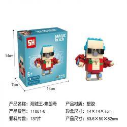 HSANHE 11001-6 SH 11001-6 Xếp hình kiểu Lego One Piece Franky One Piece Fangtai Franci Fangtai Franci. 137 khối