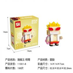 HSANHE 11001-8 SH 11001-8 Xếp hình kiểu Lego One Piece Donquixote Doflamingo One Piece Fangtuo Don Quixote Dome Cậu Bé đầu Vuông Don Quixote Doflamingo 196 khối