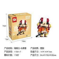 HSANHE 11001-7 SH 11001-7 Xếp hình kiểu Lego One Piece Usopp One Piece Upopp Cậu Bé đầu Vuông Usopp 178 khối