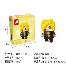 HSANHE 11001-4 SH 11001-4 Xếp hình kiểu Lego One Piece Sanji One Piece Fang Hebao Winnsmerk. Cậu Bé đầu Vuông Winsmerk. Sanji 171 khối