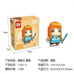 HSANHE 11001-3 SH 11001-3 Xếp hình kiểu Lego One Piece Nami One Piece Fangtang Na Beauty Nami đầu Vuông 173 khối