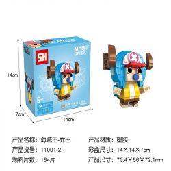 HSANHE 11001-2 SH 11001-2 Xếp hình kiểu Lego One Piece Tony Tony Chopper One Piece Fangtou Tie Ni · Tang Ni · Qiao 164 khối