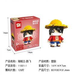 HSANHE 11001-1 SH 11001-1 Xếp hình kiểu Lego One Piece Monkey D Luffy One Piece Fangtai Munqi D · Lufei Khỉ Fangtou · D · Luffy 129 khối