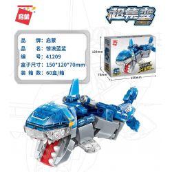 Enlighten 41209 Qman 41209 KEEPPLEY 41209 Xếp hình kiểu Lego TRANSFORMERS Supercoming Mechanic Cube Sweet Blue Shark Alloy Edition Robot Quái Thú Rubik's Cube Surging Blue Shark Alloy Edition