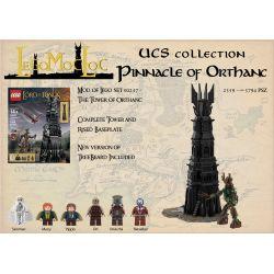FXZ 112501 REBRICKABLE MOC-33442 33442 MOC33442 Xếp hình kiểu Lego THE LORD OF THE RINGS UCS Pinnacle Of Orthanc Oukota Ouakota. 3787 khối