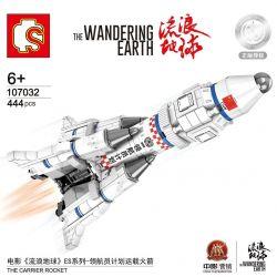 SEMBO 107032 Xếp hình kiểu Lego THE WANDERING EARTH The Wandering Earth The Carrier Rocket ES Series - Netherman Plans To Carry Rocket Xe Khởi động Dự án ES Series-Navigator 444 khối