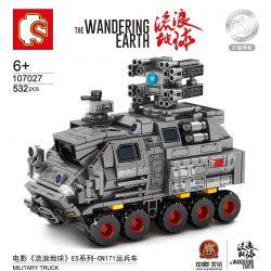 SEMBO 107027 Xếp hình kiểu Lego THE WANDERING EARTH Military Truck ES Series - CN171 Tàu Sân Bay Nhân Sự Sê-ri ES-CN171 532 khối