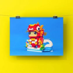PANTASY 99001 Xếp hình kiểu Lego BRICKHEADZ Lucky Koi Transport Small Koi Vận Chuyển Cá Koi Nhỏ