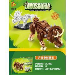 PanlosBrick 612007 Panlos Brick 612007 Xếp hình kiểu Lego DINO Dinosauria Triceratops Triceratops. 758 khối