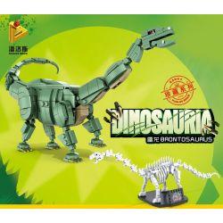 PanlosBrick 612005 Panlos Brick 612005 Xếp hình kiểu Lego DINO Dinosauria Brontosaurus Brontosaurus. 739 khối