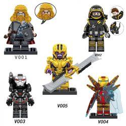 PRCK V001 V002 V003 V004 V005 Xếp hình kiểu Lego COLLECTABLE MINIFIGURES 5 Models Avengers 4 Avengers 4. gồm 4 hộp nhỏ