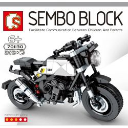 SEMBO 701130 Xếp hình kiểu Lego MOTO Brixton Enjoy The Ride Bresnd Bresnd. 203 khối