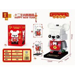 ZHEGAO QJ5111 5111 Xếp hình kiểu Lego SEASONAL Happy New Year Twelve Zodiac New Year Edition Mouse Con Chuột 151 khối