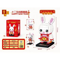 ZHEGAO QJ5113 5113 Xếp hình kiểu Lego SEASONAL Happy New Year Twelve Zodiac New Year Edition Rabbit Con Thỏ 149 khối