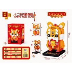 ZHEGAO QJ5109 5109 Xếp hình kiểu Lego SEASONAL Happy New Year Twelve Zodiac New Year Edition Yin Tiger Âm Hổ 166 khối