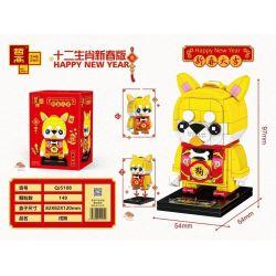 ZHEGAO QJ5108 5108 Xếp hình kiểu Lego SEASONAL Happy New Year Twelve Zodiac New Year Edition 狗 狗. 149 khối