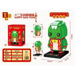 ZHEGAO QJ5105 5105 Xếp hình kiểu Lego SEASONAL Happy New Year Twelve Zodiac New Year Edition Snake Con Rắn 154 khối