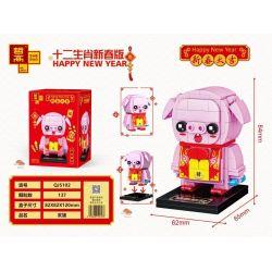 ZHEGAO QJ5102 5102 Xếp hình kiểu Lego SEASONAL Happy New Year Twelve Zodiac New Year Edition Hai Pig Giấu Heo 137 khối