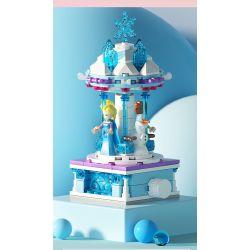 SX 9048 9049 9050 9051 Xếp hình kiểu THE LEGO NINJAGO MOVIE Modeling Playground Carousel Amusement Field Rotating Trojan 4 Ice And Snow, Disney Mickey Dang, Toy Mobilization, Phantom Ninja Băng Chuyền