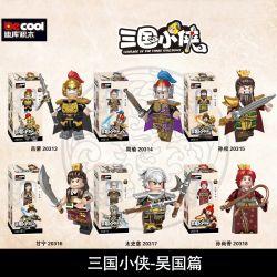 DECOOL 20313 20314 20315 20316 20317 20318 Xếp hình kiểu Lego Courage Of The Three Kingdoms Three Kingdoms Wu Guo Wu Guo. gồm 6 hộp nhỏ