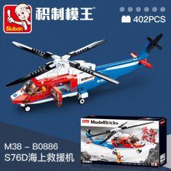 SLUBAN M38-B0886 B0886 0886 M38B0886 38-B0886 Xếp hình kiểu Lego RACERS ModelBricks Bouquet Winter Plum Máy Bay Cứu Hộ Khẩn Cấp S76D Trên Biển 402 khối