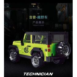 LUCKY STAR 50020 Xếp hình kiểu Lego SPEED CHAMPIONS Car World Jeep Wrangler Rubicon Jeep 牧 人 罗宾汉 Xe Jeep Wrangler Robin Hood 612 khối