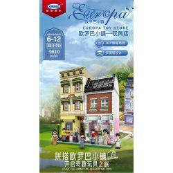 XINGBAO XB-01010 01010 XB01010 Xếp hình kiểu Lego MODULAR BUILDINGS Europa Toy Store Europa Town Cửa Hàng đồ Chơi 3610 khối