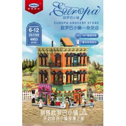 XINGBAO XB-01009 01009 XB01009 Xếp hình kiểu Lego MODULAR BUILDINGS Europa Grocery Store Europa Town Cửa Hàng Tạp Hóa 4953 khối