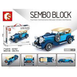 SEMBO 607407 Xếp hình kiểu Lego RACERS Famous Car 1930 Duesenberg Model J Classic Cars Durnsoni J-type Loại Jurnsoni J 348 khối