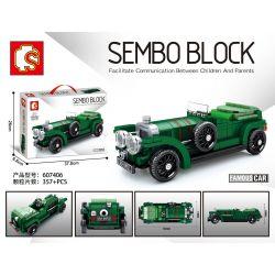 "SEMBO 607406 Xếp hình kiểu Lego RACERS Famous Car Bentley 4 1 2 ""BLOWER"" Classic Cars Bentley 4.5L Mechanical Pressure Bentley 4.5L áp Lực Cơ Học 357 khối"