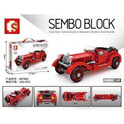 SEMBO 607404 Xếp hình kiểu Lego RACERS Famous Car Alfa Romeo 6C 1750 Classic Cars Alpha Romeo 6c 1750 324 khối