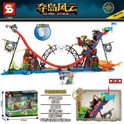 SHENG YUAN SY 1548 Xếp hình kiểu Lego PIRATES OF THE CARIBBEAN Island Storm Island Pirate Amusement Park Công Viên Giải Trí Pirate 540 khối